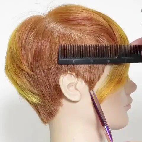 Wie Schneidet Man Haare Um Die Ohren Haarschneidetechniken Haare Schneiden Haare Schneiden Anleitung