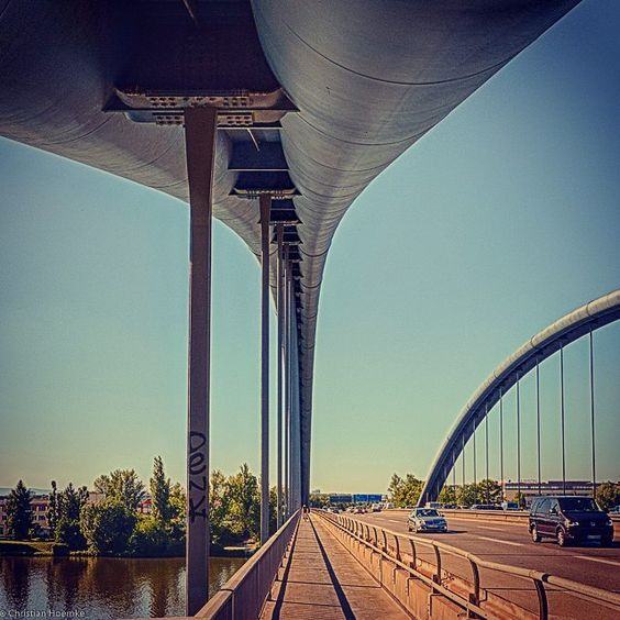 Kaiserleibrücke Kaiserlei bridge #germany #deutschland #offenbach #kaiserlei #bride #architecture #perspective by chrisho1960