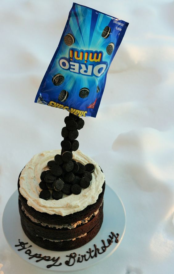 Cake Decorating Ideas With Oreos : Anti Gravity Oreo Cake LawsOfBaking.com Pinterest ...