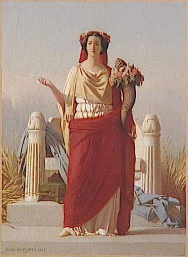 1866 Empress Eugenie as Ceres by Jules de Vigneil (Château de Compiègne)   Grand Ladies   gogm
