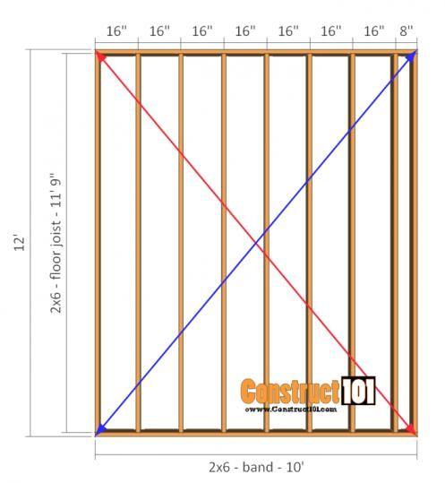 10x12 Shed Plans Gambrel Shed Floor Shedplans Shedplans In 2020 Shed Plans Shed Floor Plans Diy Storage Shed Plans