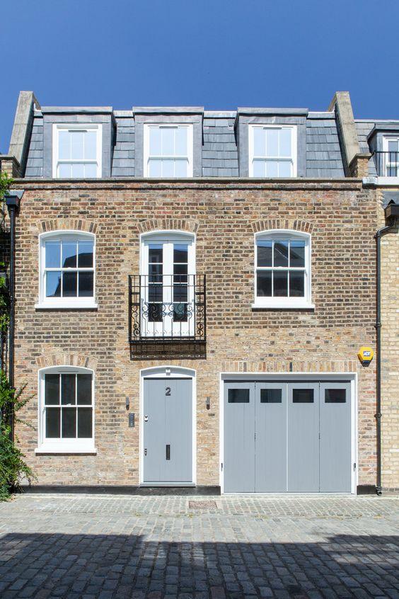 Mansard roof contemporary exterior colour schemes london for Modern mansard roof