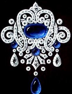 The design of a brooch to Empress Maria Feodorovna, mother to Nikolas II. The Hermitage, St Petersburg, the Romanovs collection.