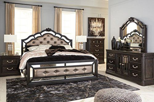 Ashley Furniture Quinshire Four Piece Mirrored Panel Bedroom Set