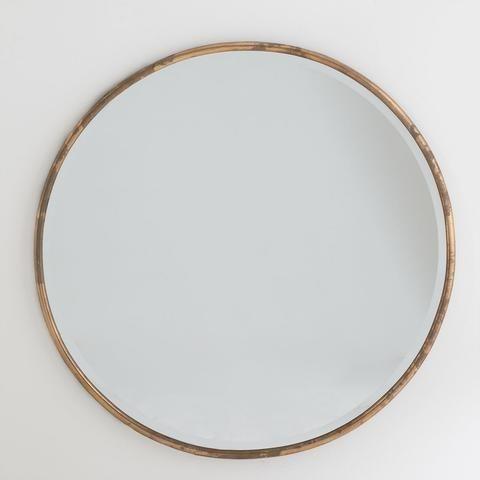 Gilt minimalist mirror we round mirrors and gold mirrors for Large round gold mirror