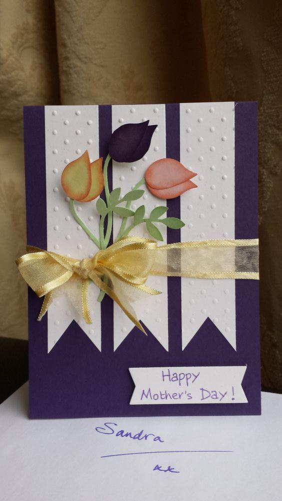 14 Cute And Creative Diy Mother S Day Card Ideas Tulips Card Cards Handmade Card Craft