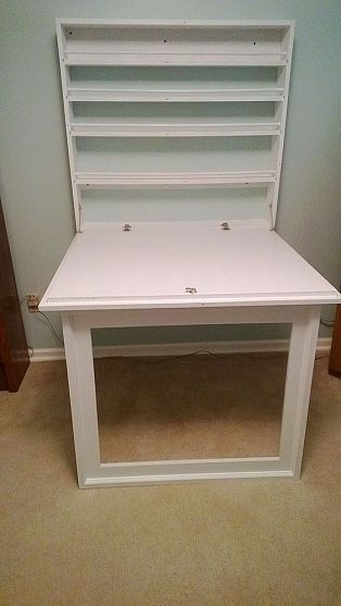 Fold Up Craft Table And Storage Shelves Storage Shelves