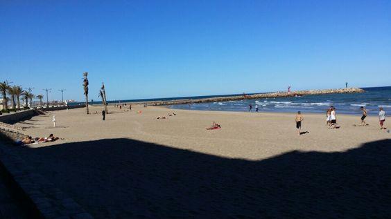 Platja de Port Saplaya Sud en Alboraya, Valencia