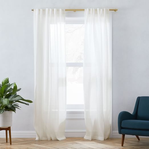 Linen Cotton Curtain Stone White In 2020 Sheer Linen Curtains Linen Curtains Printed Curtains