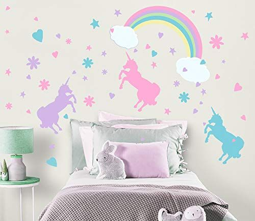 Unicorn 1 Unicorn Wall Decals Unicorn Wall Decor Stickers Birthday Gifts For Girls Kids Bedroom Decor