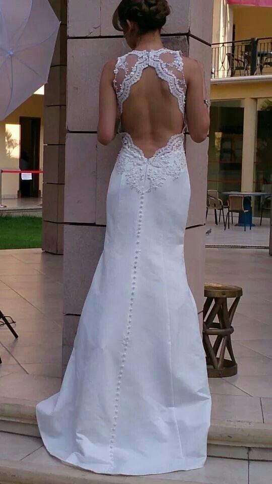Wedding dress amazing back side