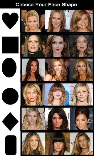 27+ Face shapes and haircuts ideas