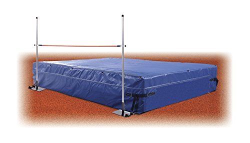 Track Amp Field High Jump Mat Value Package 6 D X 12 W X 24 H Includes High Jump Standards Weather Cover Amp Official Crossbar Track And Field High Jump Workout Accessories