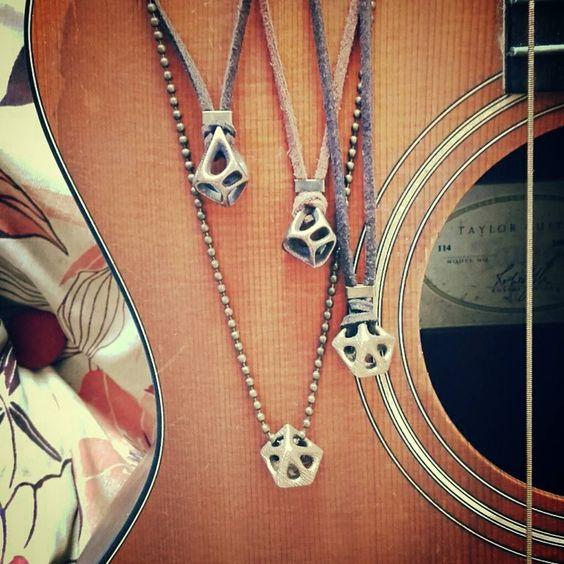 Colares metálicos DU.CA! #colares #necklaces #3dprinting #br #bios by paulocarvalhopc