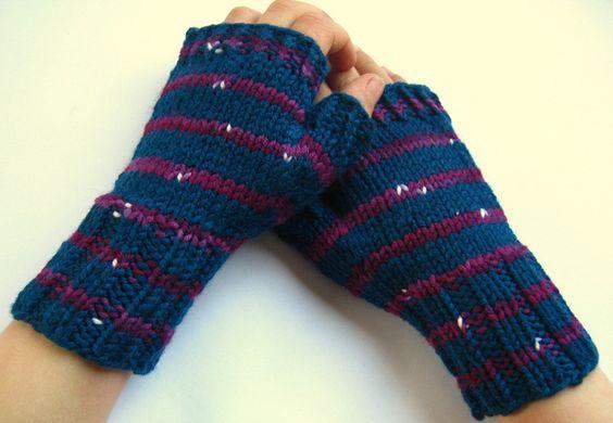 Kinder-Armstulpen 4 bis 6 J. Fingerlose Handschuhe von frostpfoetchen auf DaWanda.com