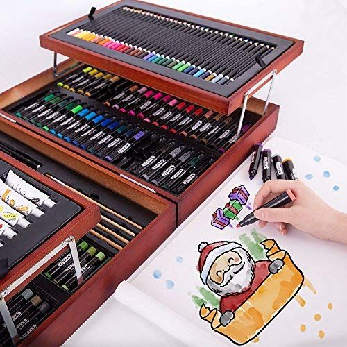 Mont Marte 174 Piece Deluxe Art Set Art Supplies For Painting And