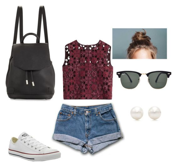 """Amusement park outfit"" by brianna-diaz2000 on Polyvore featuring Alberta Ferretti, Converse, rag & bone, Ray-Ban and Tiffany & Co."
