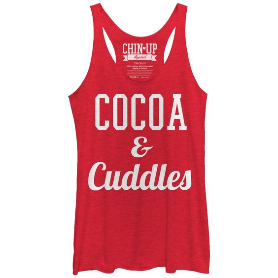 CHIN UP Women's - Cocoa and Cuddles Racerback Tank #ChinUpApparel #winter #fitness #workout #cocoaandcuddles #cuddles