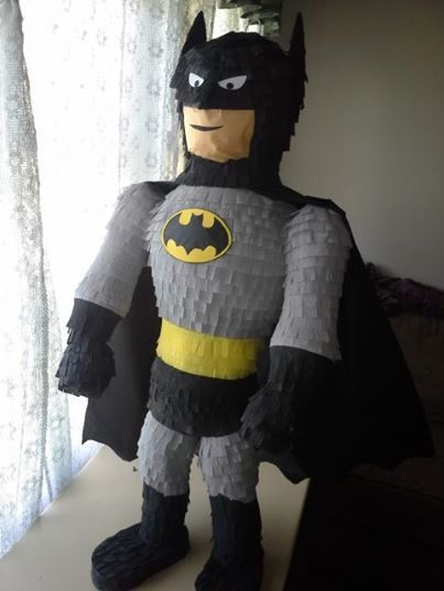how to make a batman pinata