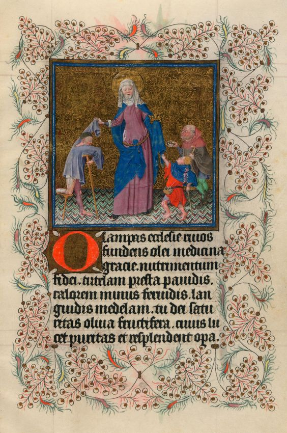 St. Elizabeth Aiding Beggars   Hours of Catherine of Cleves   Illuminated by the Master of Catherine of Cleves   ca. 1440   The Morgan Library & Museum