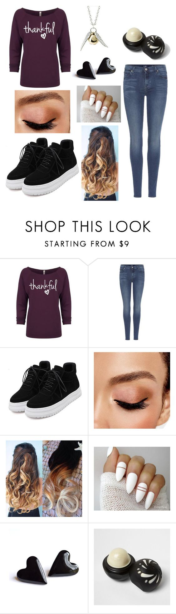 """""""Untitled #73"""" by life-sucks4664 ❤ liked on Polyvore featuring 7 For All Mankind, WithChic, Avon, River Island and Quiksilver"""