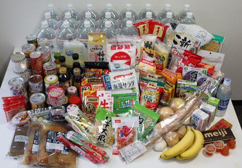 1週間分の食料備蓄例を考えました~巨大地震に備えて家庭でできる防災 ...