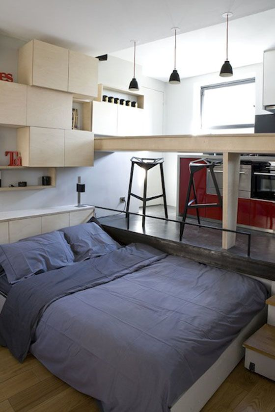 Studio Apartment Solutions take a look at this superb 16 square meter studio apartment with