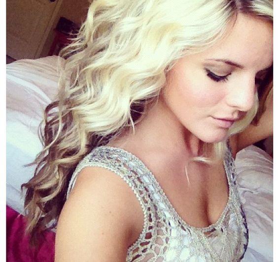 Curly blonde hair with brown underneath | Hair | Pinterest ...