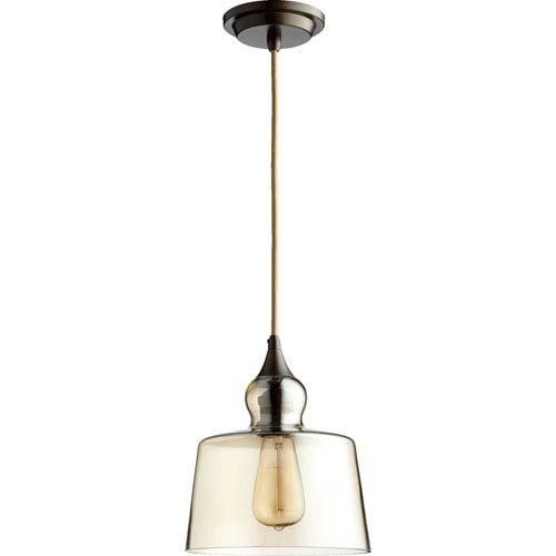 Quorum International Filament Oiled Bronze 8 5 Inch One Light Pendant With Amber Glass 8001 386 Bellacor In 2020 Glass Pendant Light Glass Bulbs Pendant Lighting