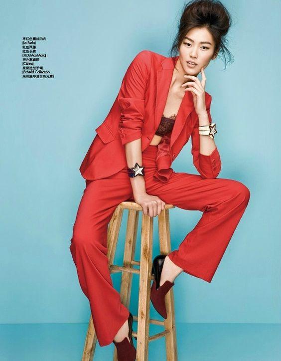 Liu Wen in Red