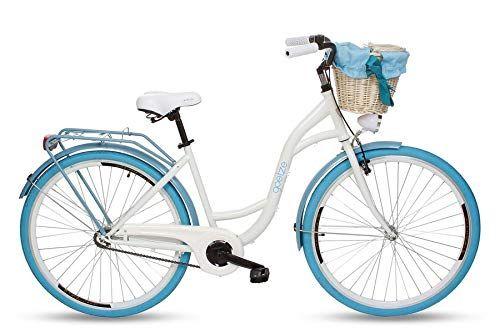 Goetze Colours 28 Zoll Damen Citybike Stadtrad Damenfahrrad Damenrad Hollandrad Retro Design Korb Hinterradbremse Led Beleuchtung Damenfahrrad Fahrrad Klapprad
