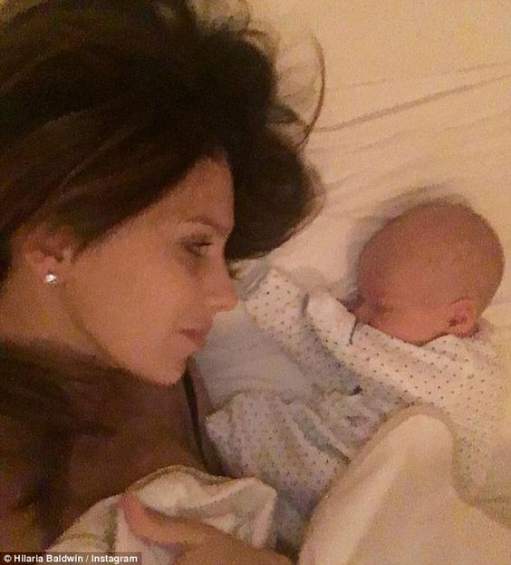 Hilaria Baldwin shows off weight loss nine days after giving birth
