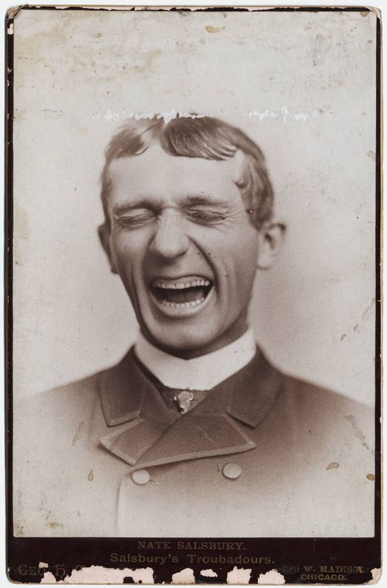Man Laughing ....or getting ready to sneeze
