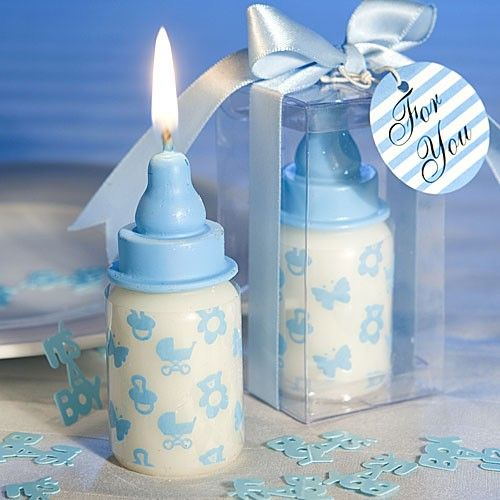 Baby Bottle Candle Favors (Pink or Blue):