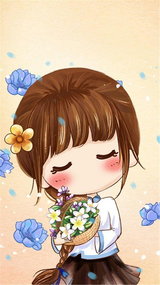 Chica...flores...