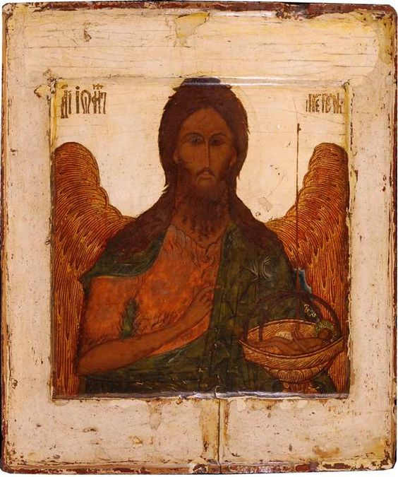 Russian icon of St. John the Baptist, 17th century