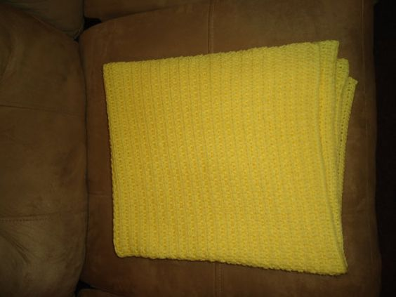 Yellow Baby Blanket by CreeksideCrafts1980 on Etsy, $39.95