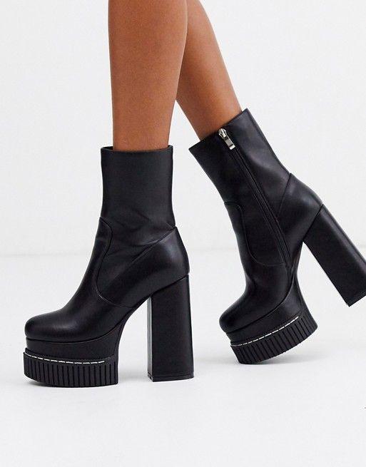 Lamoda chunky platform boots with