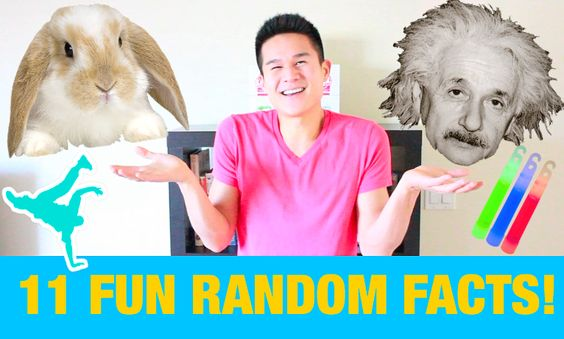 11 Random FUN Facts About My Bunny Rabbit, Hip Hop Dancing, Albert Einstein, Raving Past & Glow Sticks! http://youtu.be/6JupQt24Ctk