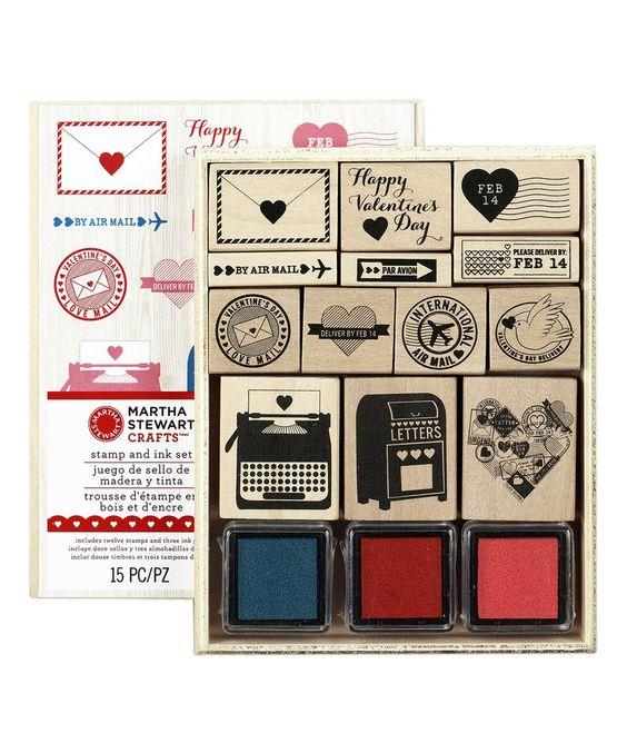 Look what I found on #zulily! Love Notes Stamp Set by Martha Stewart Crafts #zulilyfinds