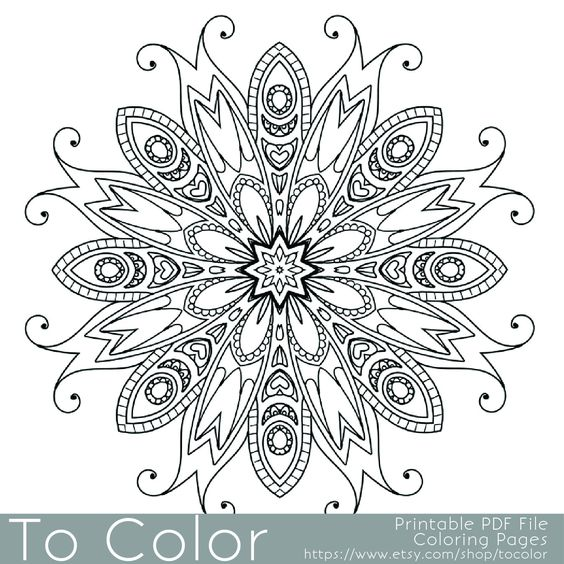 Coloring Pages: Mandalas & Patterns Coloring Books for Grown-Ups