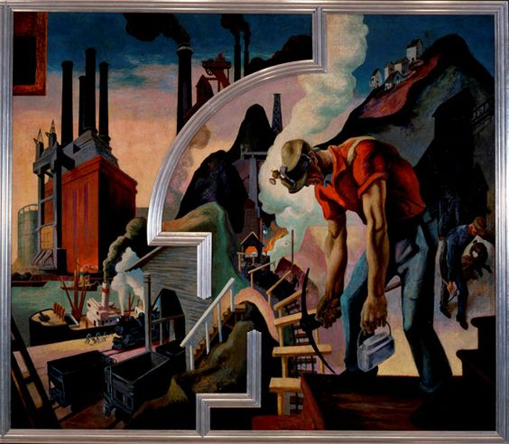 Thomas hart benton s epic mural america today has been for America today mural