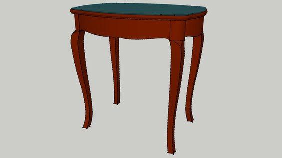 Antique tampo de vidro de mesa - Armazém 3D