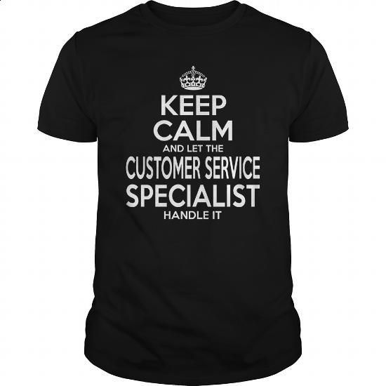 CUSTOMER SERVICE SPECIALIST - KEEPCALM - #crewneck sweatshirts #t shirt designer. ORDER NOW => https://www.sunfrog.com/LifeStyle/CUSTOMER-SERVICE-SPECIALIST--KEEPCALM-Black-Guys.html?id=60505