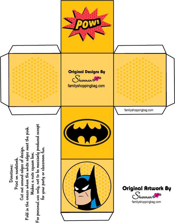 Batman Treat Boxes--Click for more designs