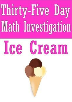 This is a free sample of three activities in the 35 day math investigation. You are an ice cream man (or woman) in the state of California. To sell your ice cream, you will need to travel around the state to many different towns.  Your seven investigations (each goes for five days) are as follows:Investigation 1: Distance, Speed and TimeInvestigation 2: Multiplication and Division Investigation 3: Data and StatisticsInvestigation 4: Area, Perimeter and VolumeInvestigation 5: Worded…