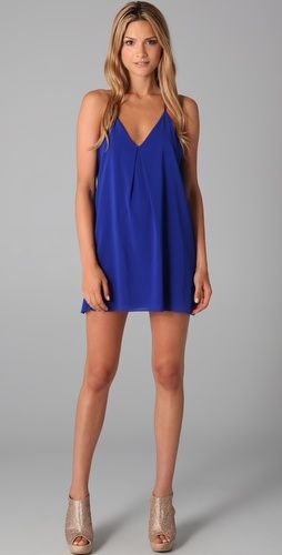 alice + olivia fierra t back dress in one of my favorite colors. this will be longer on me since i'm short lol.