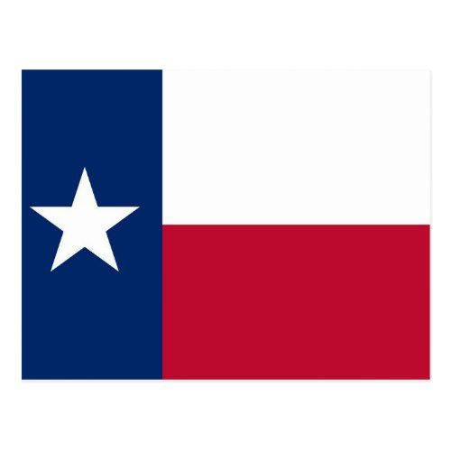 Postcard With Flag Of Texas State Usa Zazzle Com In 2020 Texas Flags Texas Quilt Texas State Flag
