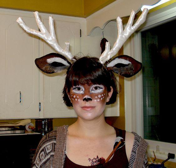 Deer face paint. Bambi.