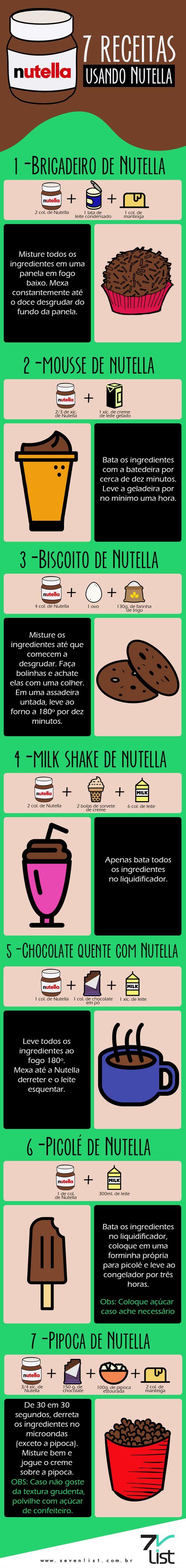 #Infográfico #Design #Doces #Sobremesas #Nutella #Brigadeiro #Chocolatequente…: